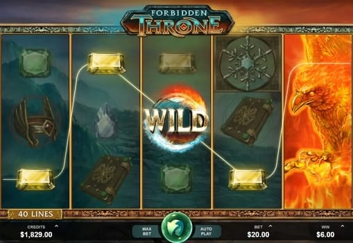 Игра Forbidden Throne - выигрышная комбинация