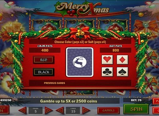 Умножение выплат в игре Merry Xmas онлайн