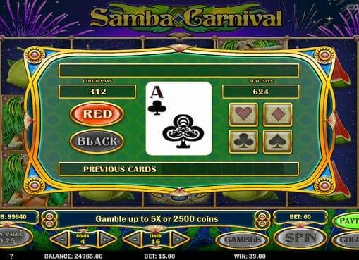 Раунд на умножение в игре Samba Carnival