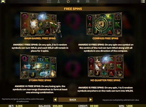 Правила фриспинов в игре Skulls of Legend онлайн