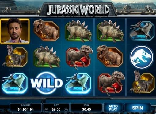 Комбинация с диким символом в Jurassic World