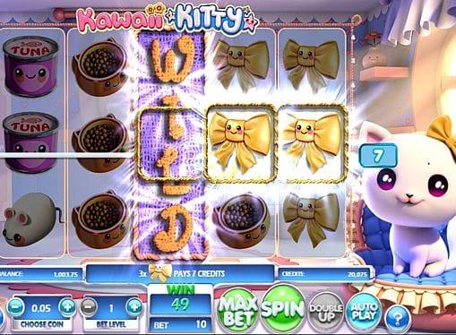 Выигрышная комбинация на линии в Kawaii Kitty