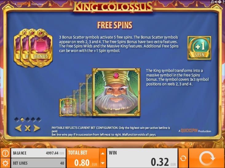 Фриспины в King Colossus онлайн