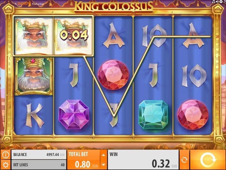 Выигрышная комбинация с диким символом в King Colossus