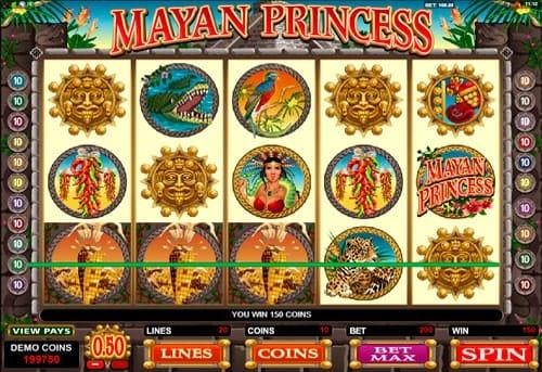 Выигрышная комбинация в Mayan Princess