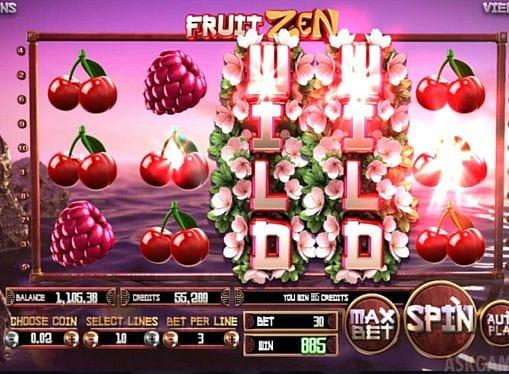 Комбинация с диким знаком в онлайн автомате Fruit Zen