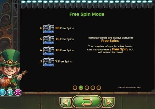 Правила фриспинов в онлайн игре Rainbow Ryan