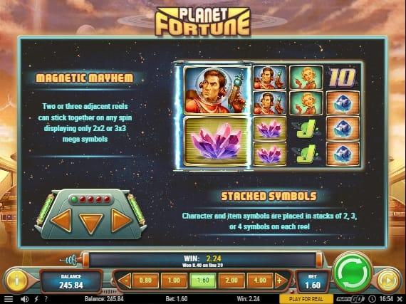 Игровые бонусы в Planet Fortune онлайн
