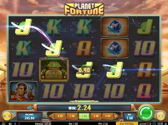 Выигрышная комбинация символов в Planet Fortune