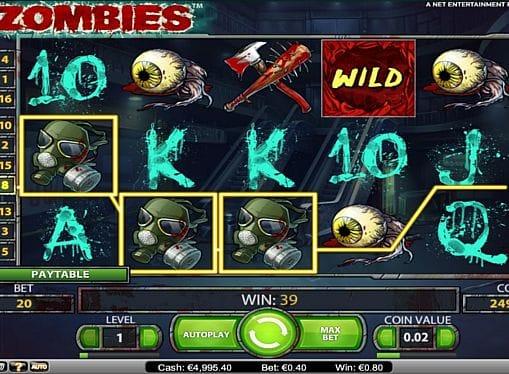 Выигрышная комбинация в Zombies